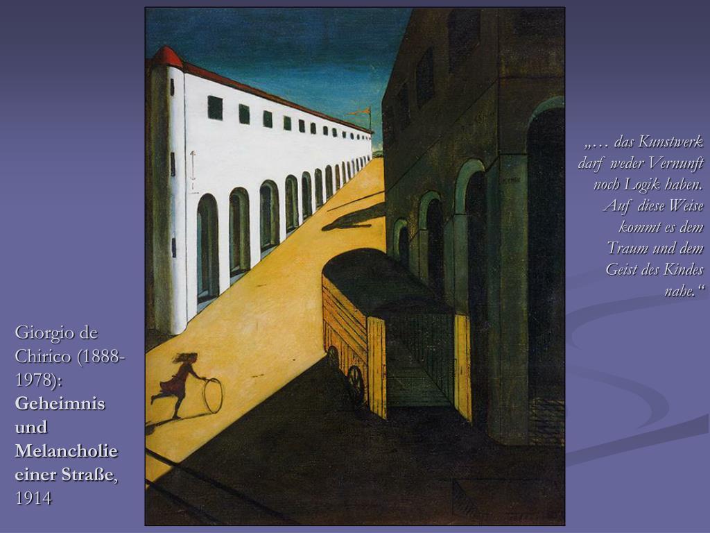 Giorgio de Chirico (1888-1978):