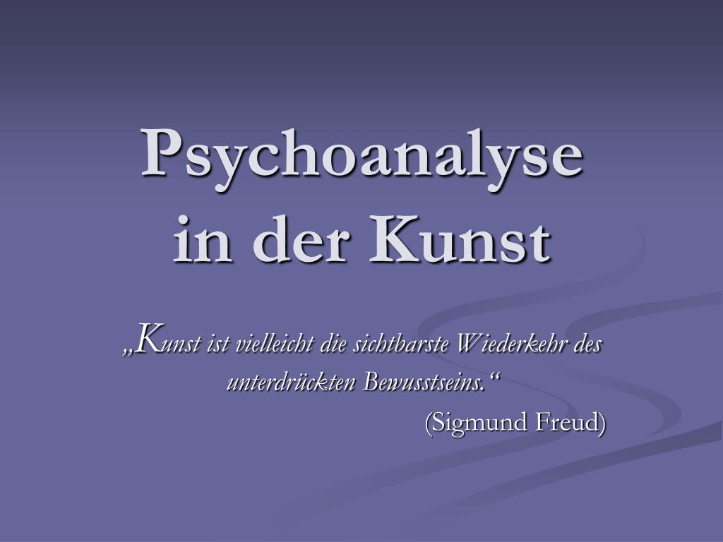 psychoanalyse in der kunst