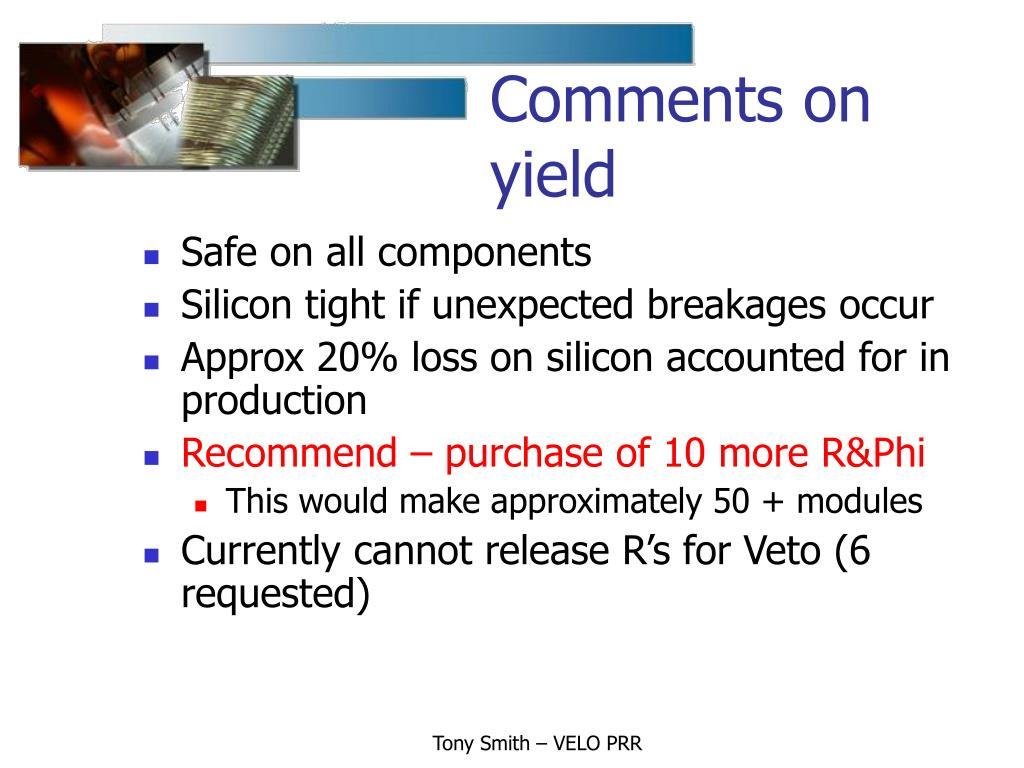 Comments on yield