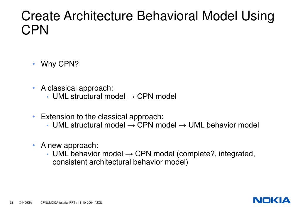 Create Architecture Behavioral Model Using CPN