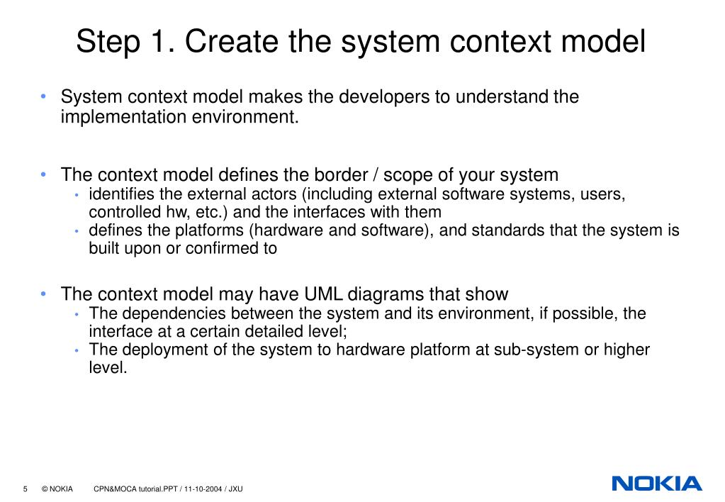 Step 1. Create the system context model