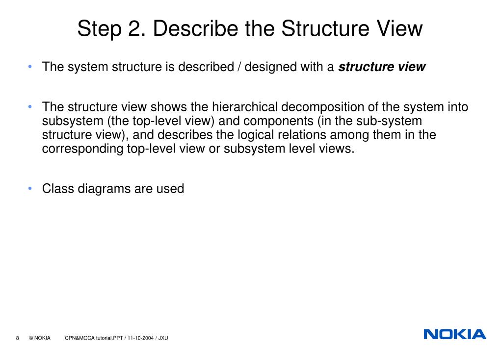 Step 2. Describe the Structure View