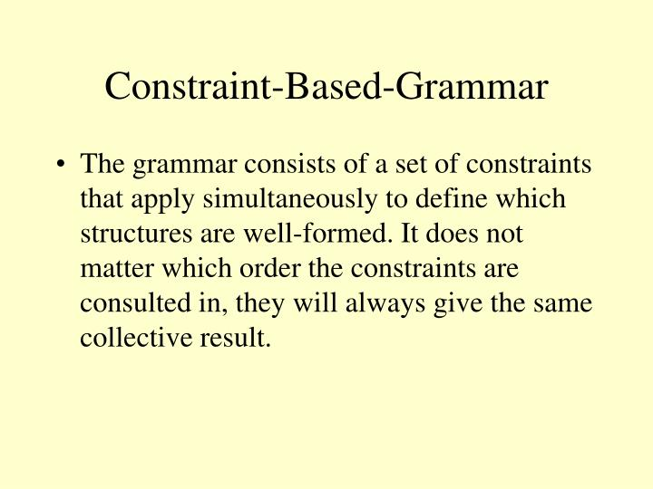 Constraint-Based-Grammar
