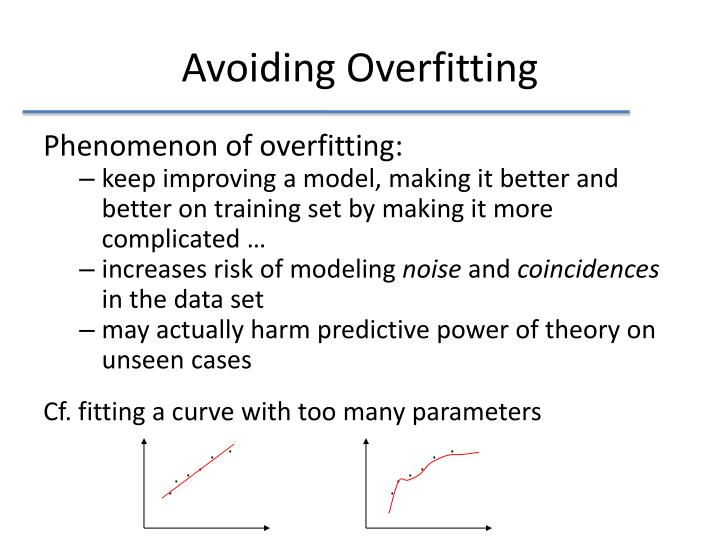 Avoiding Overfitting