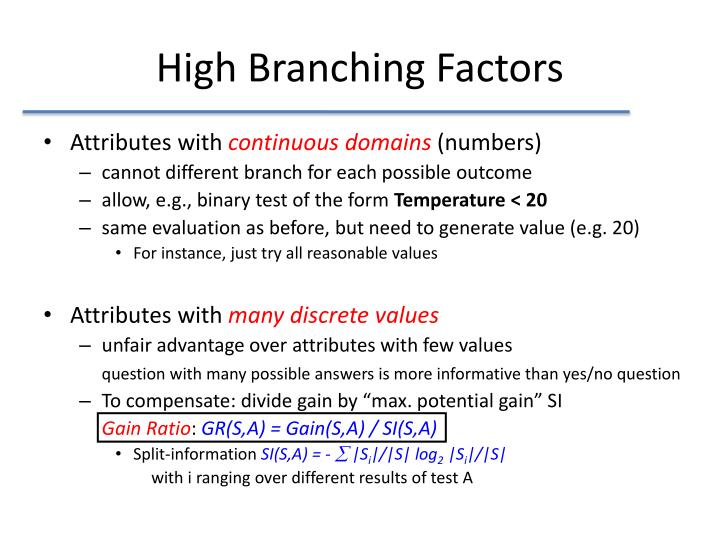 High Branching Factors