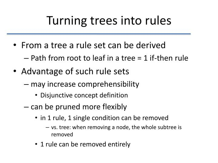 Turning trees into rules