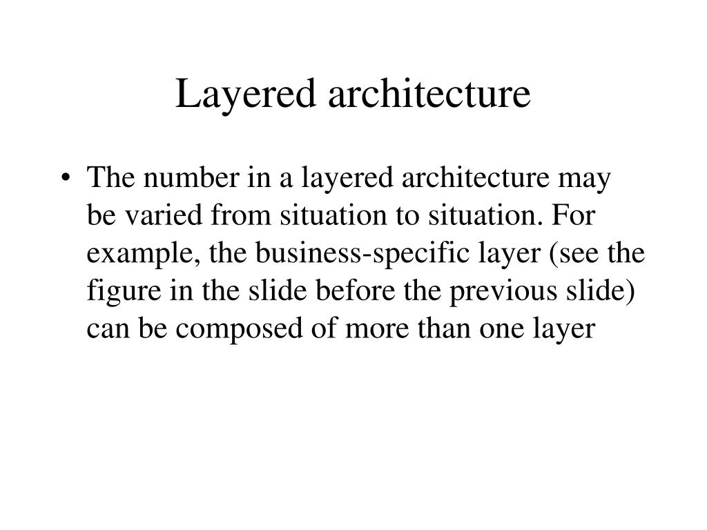 Layered architecture