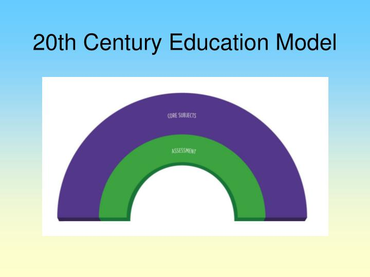 20th Century Education Model