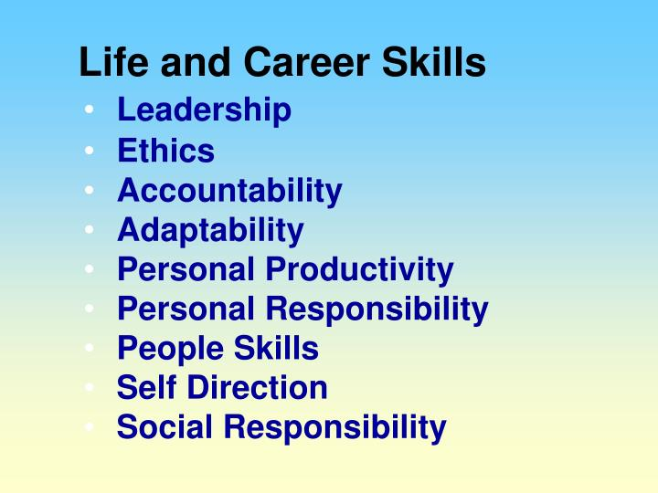 Life and Career Skills