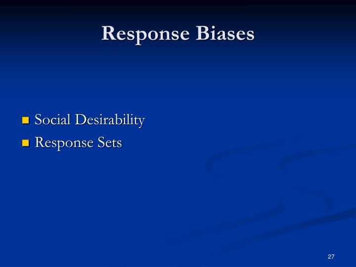 Response Biases
