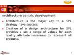 a rchitecture centric development