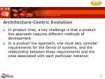 architecture centric evolution