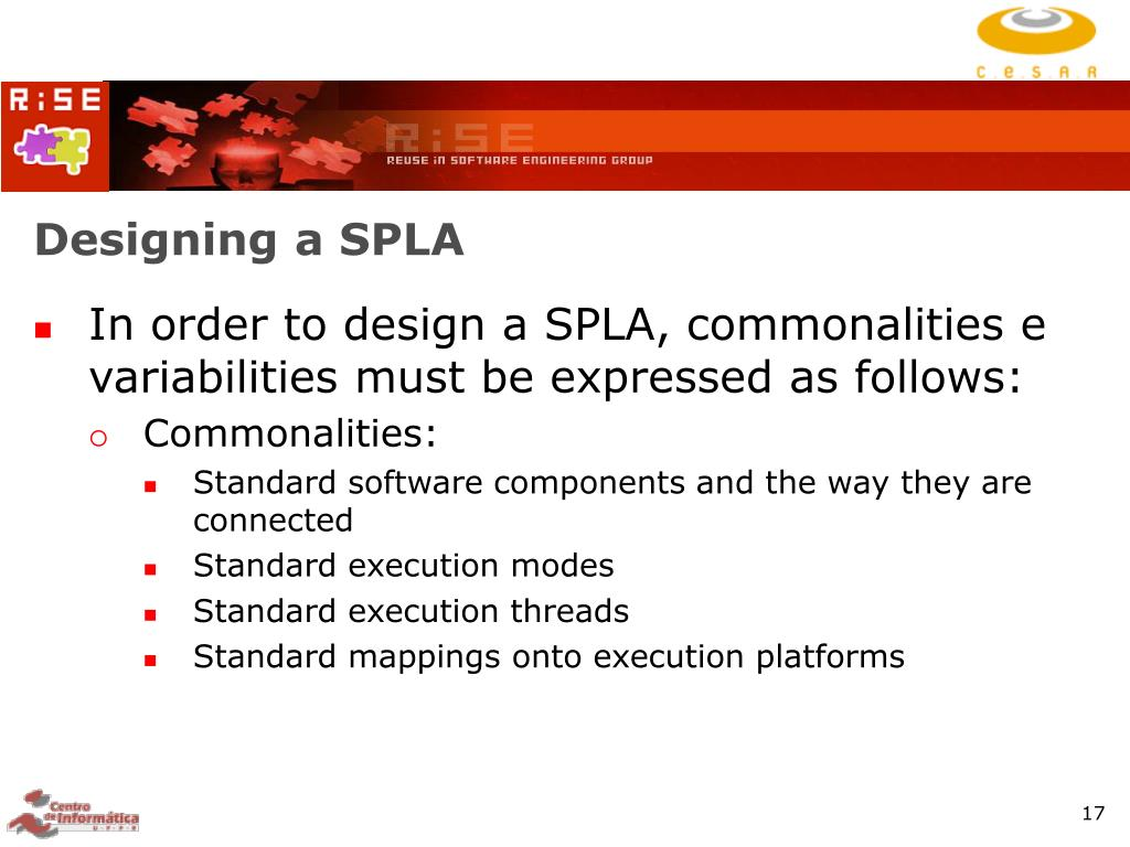 Designing a SPLA