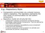 e g repository style