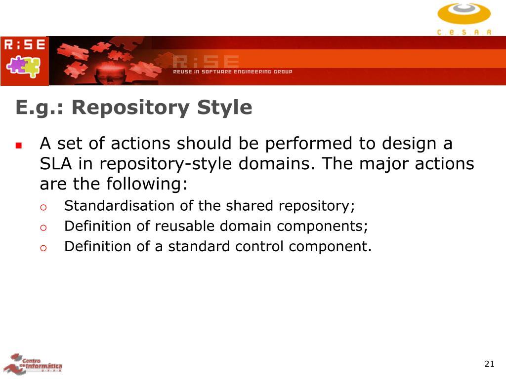 E.g.: Repository Style