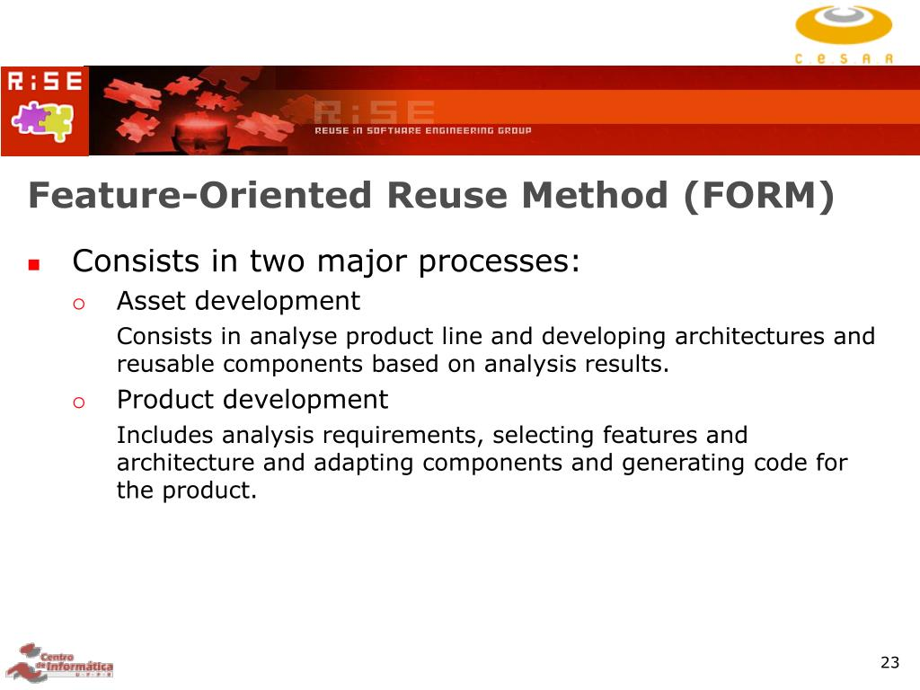 Feature-Oriented Reuse Method (FORM)