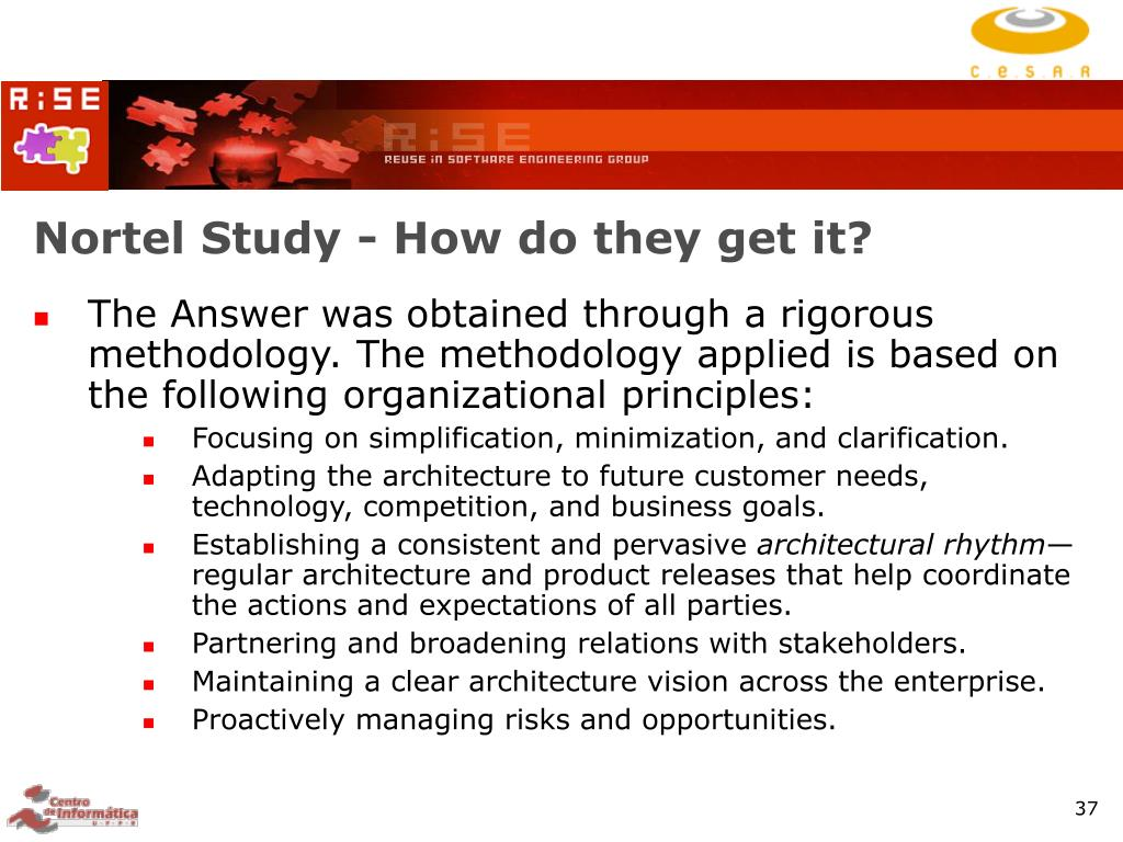 Nortel Study - How do they get it?