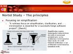 nortel study the principles