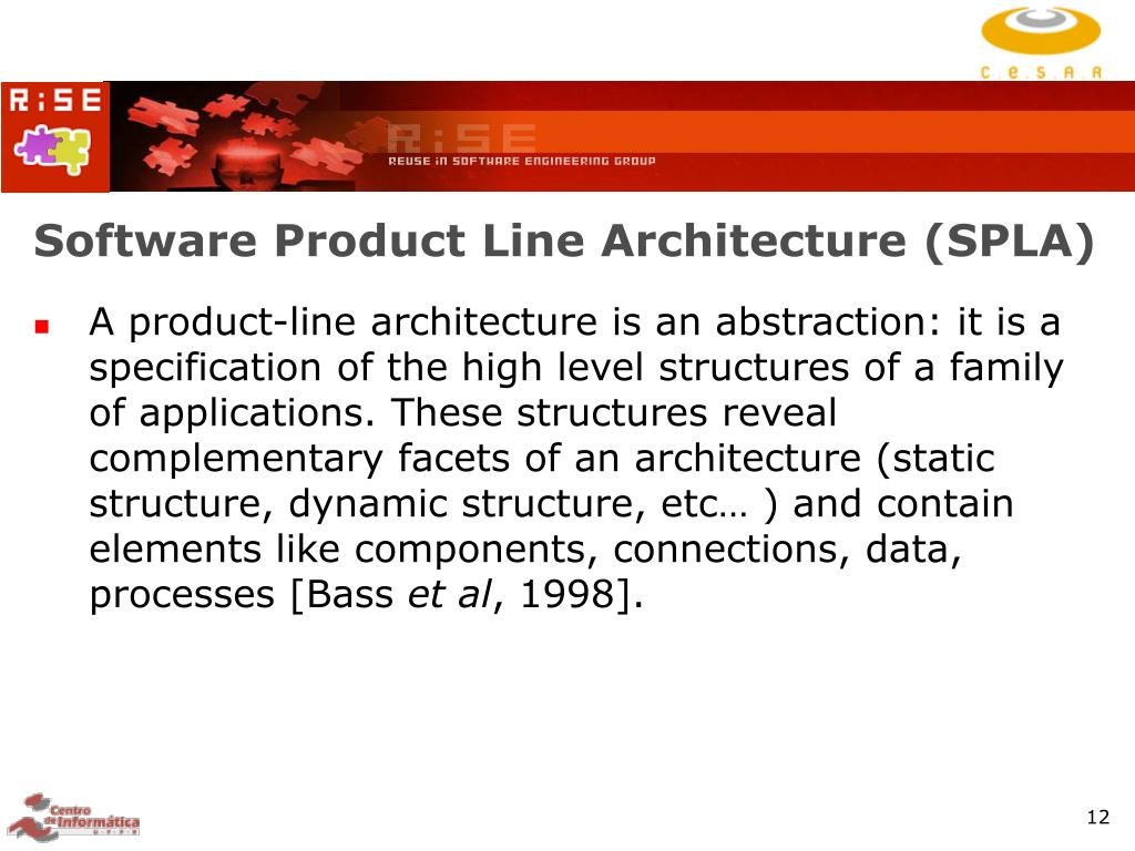 Software Product Line Architecture (SPLA)
