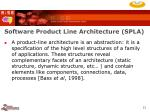 software product line architecture spla