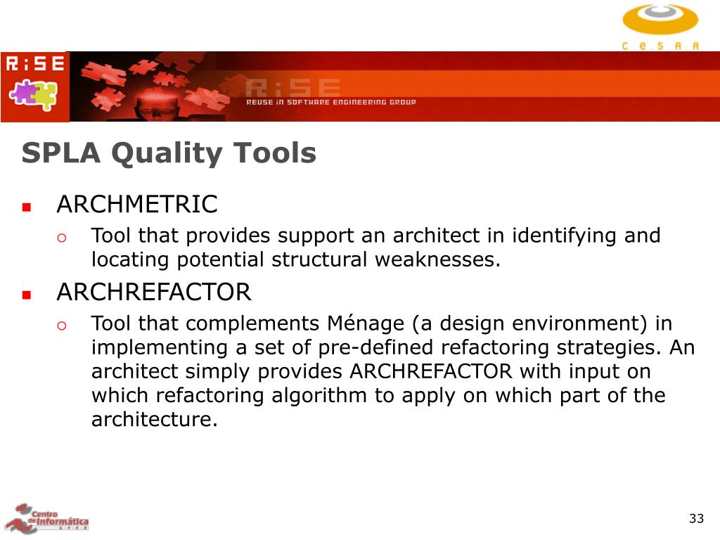 SPLA Quality Tools