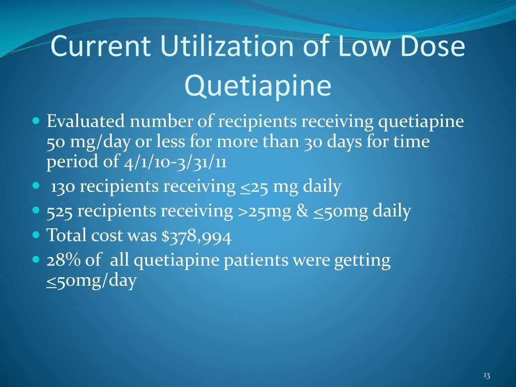 Current Utilization of Low Dose Quetiapine