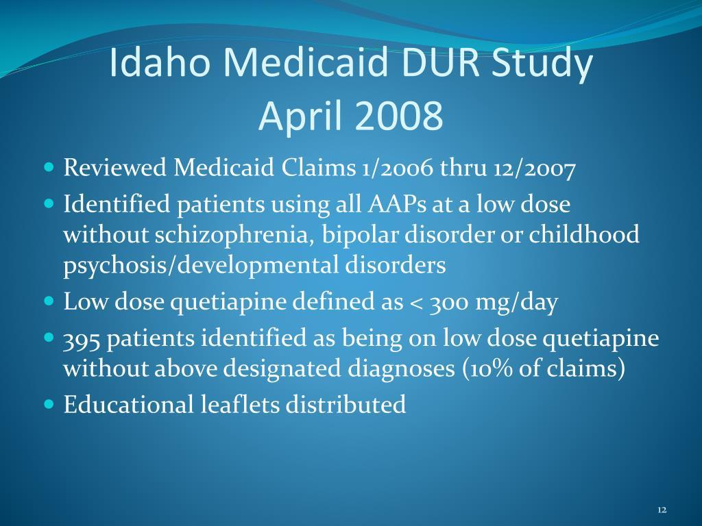 Idaho Medicaid DUR Study