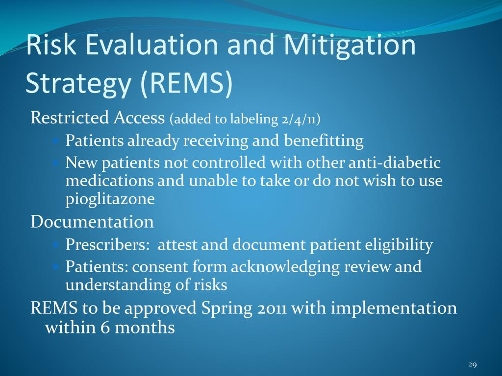 Risk Evaluation and Mitigation Strategy (REMS)