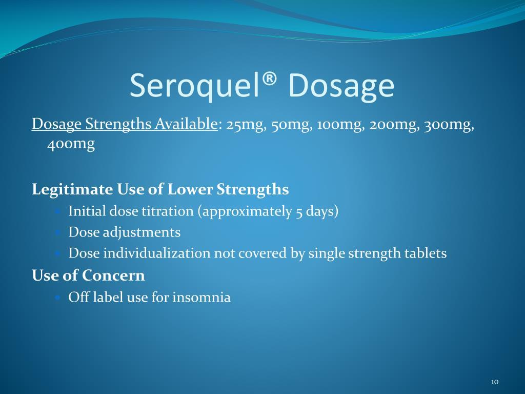 Seroquel® Dosage