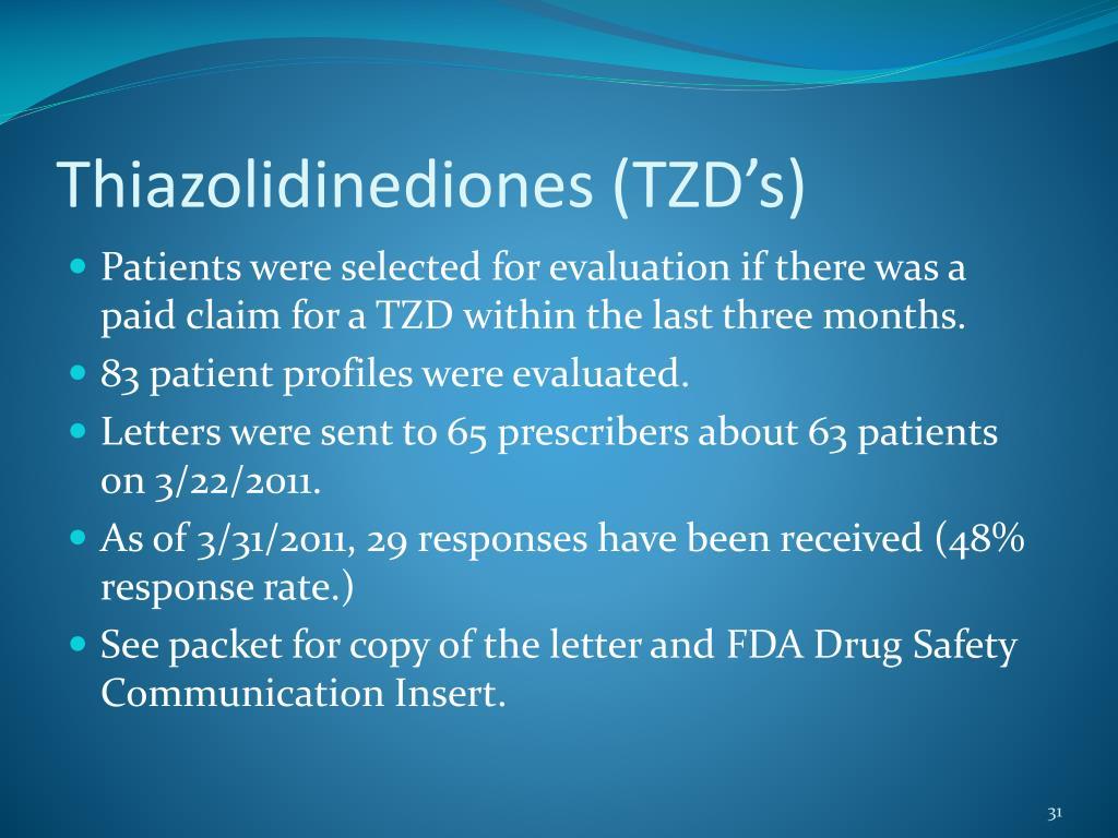 Thiazolidinediones (TZD's)