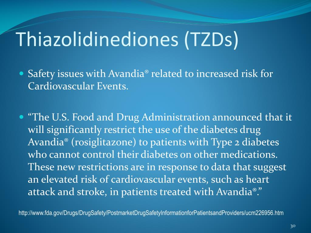 Thiazolidinediones (TZDs)