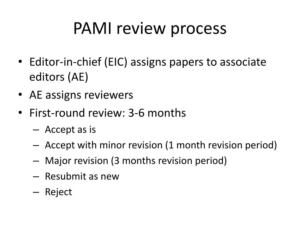 PAMI review process