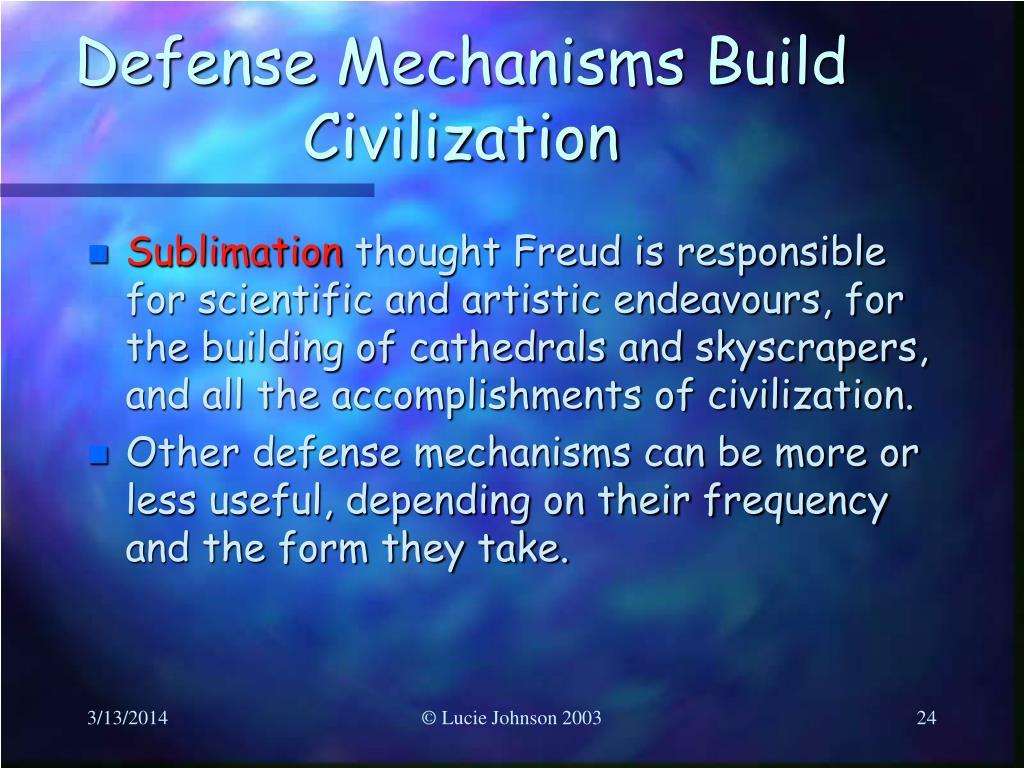 Defense Mechanisms Build Civilization