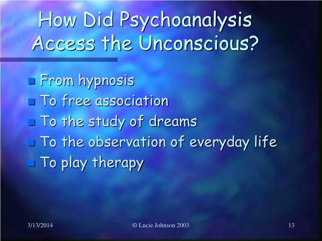 How Did Psychoanalysis Access the Unconscious?