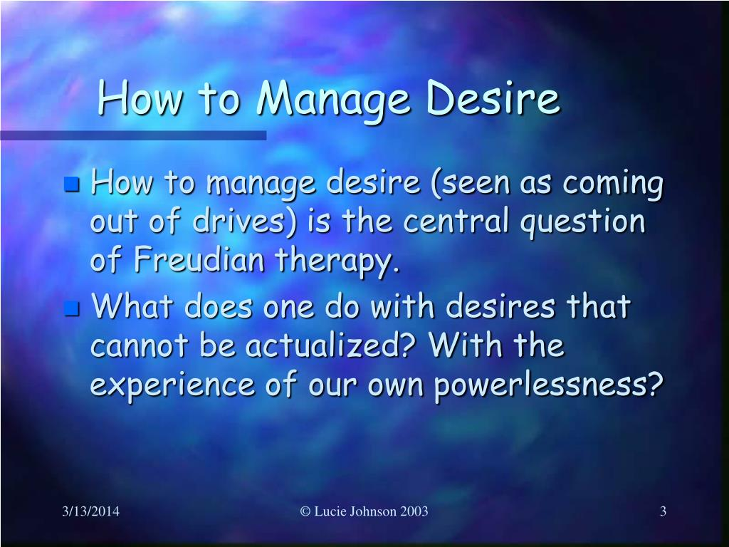 How to Manage Desire