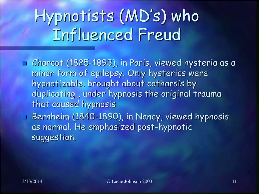 Hypnotists (MD's) who Influenced Freud