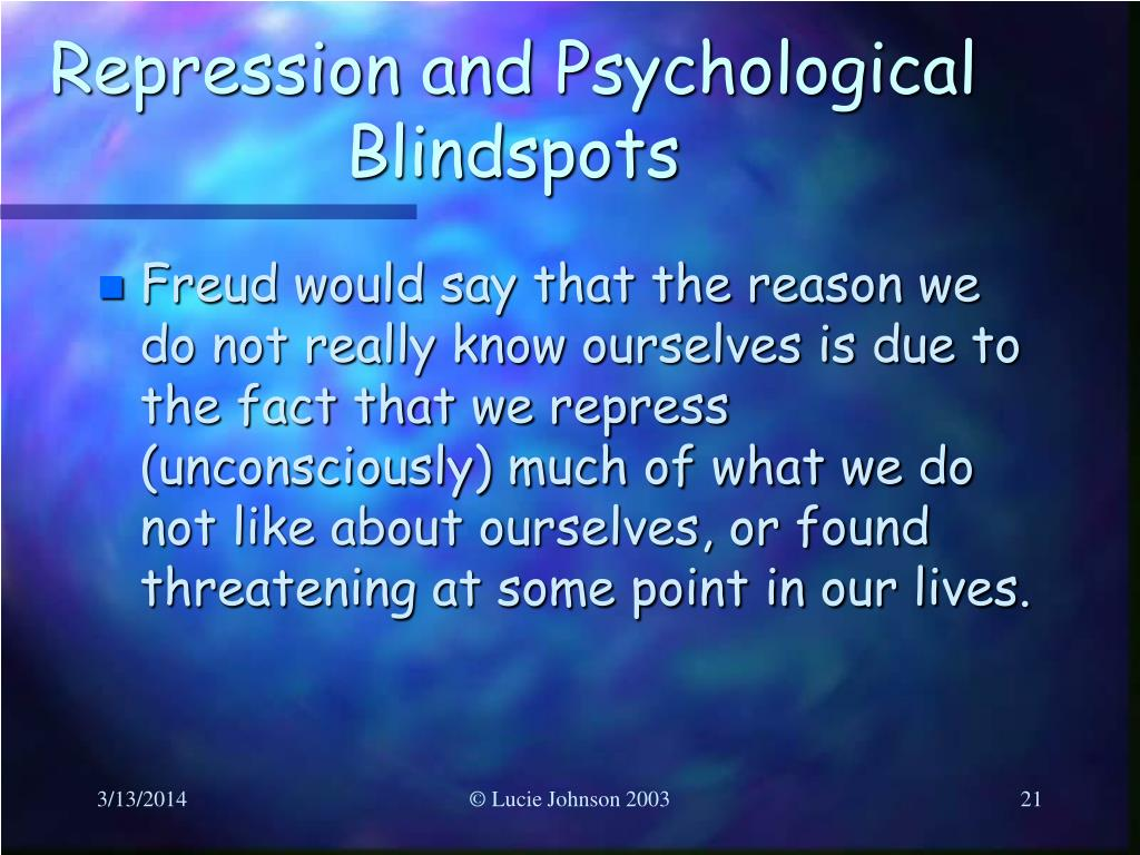 Repression and Psychological Blindspots