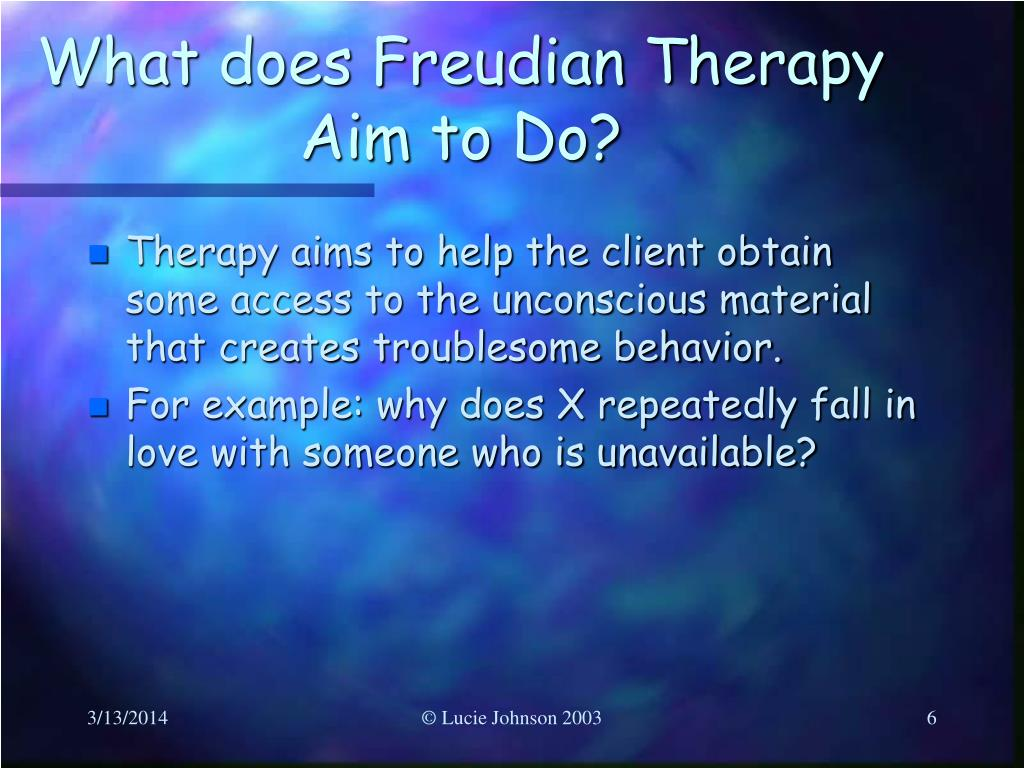 What does Freudian Therapy Aim to Do?