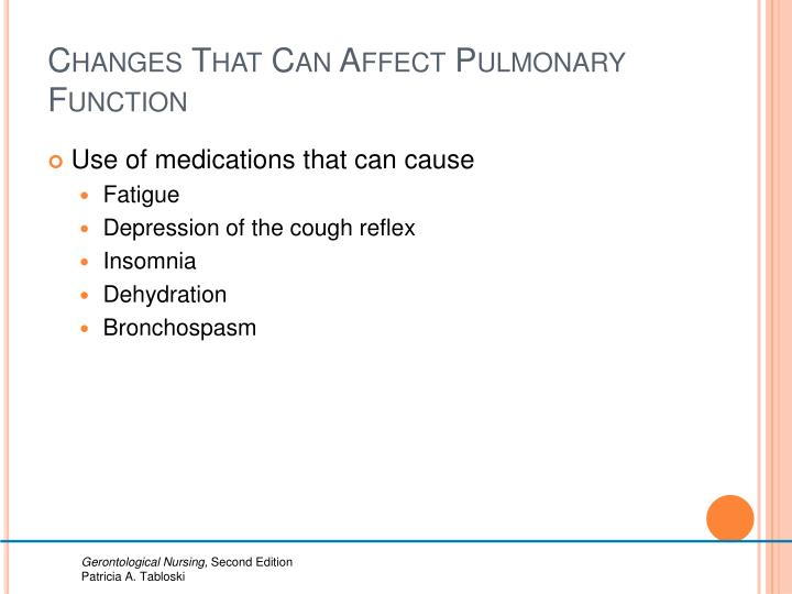 Changes That Can Affect Pulmonary Function