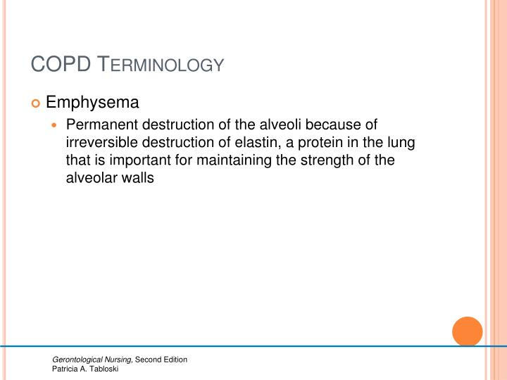 COPD Terminology