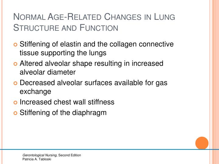 Normal Age-Related Changes in Lung Structure and Function
