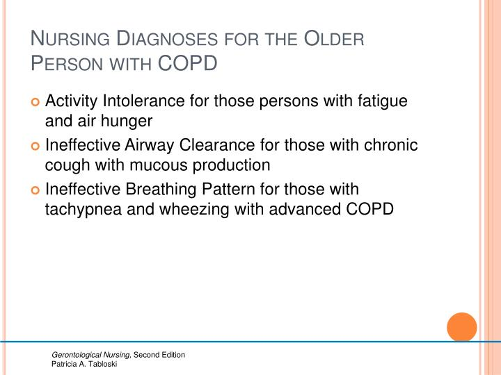 Nursing Diagnoses for the Older Person with COPD