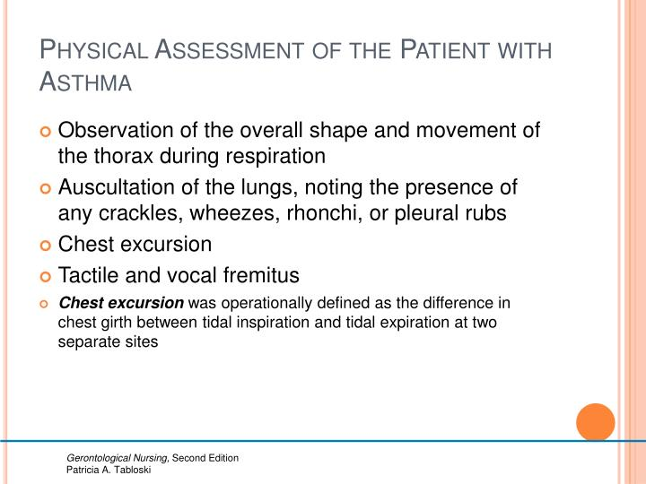 Physical Assessment of the Patient with Asthma