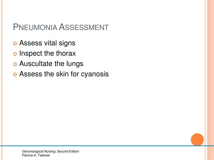 Pneumonia Assessment