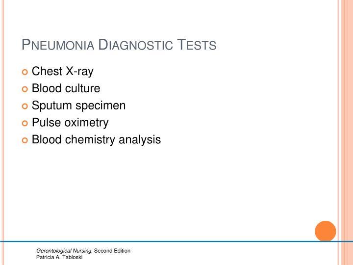 Pneumonia Diagnostic Tests