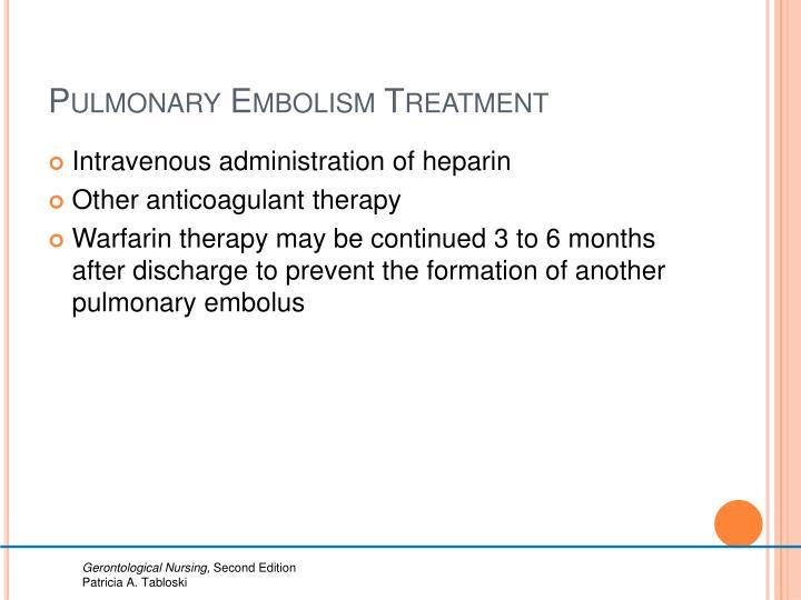 Pulmonary Embolism Treatment