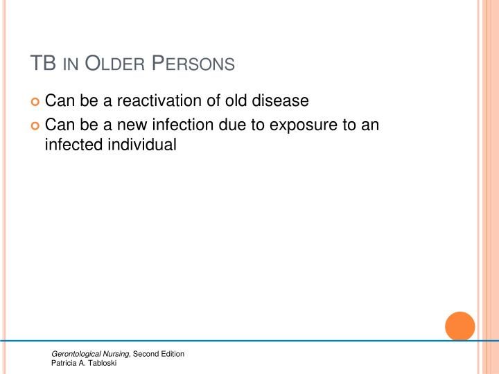 TB in Older Persons