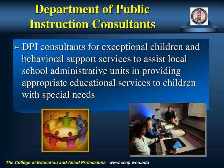 Department of Public Instruction Consultants