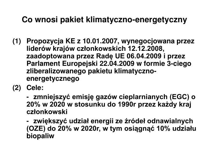 Co wnosi pakiet klimatyczno-energetyczny