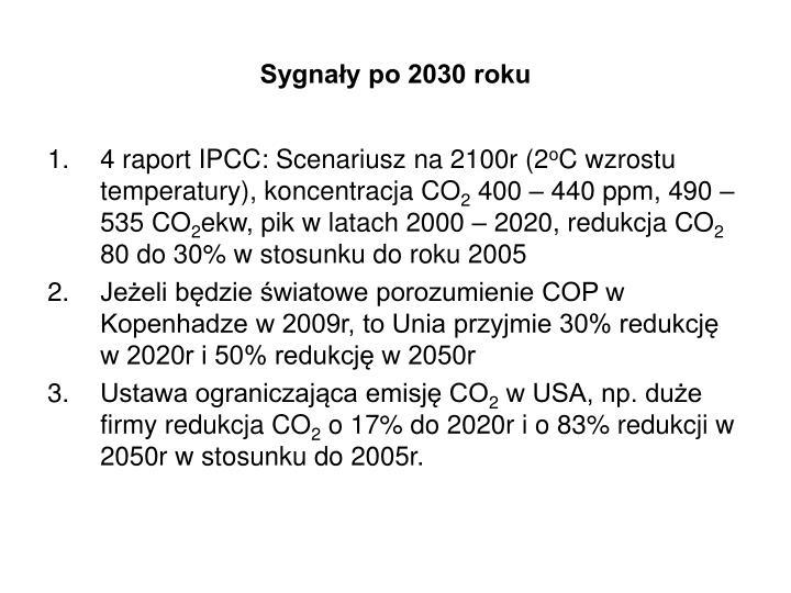 Sygnały po 2030 roku